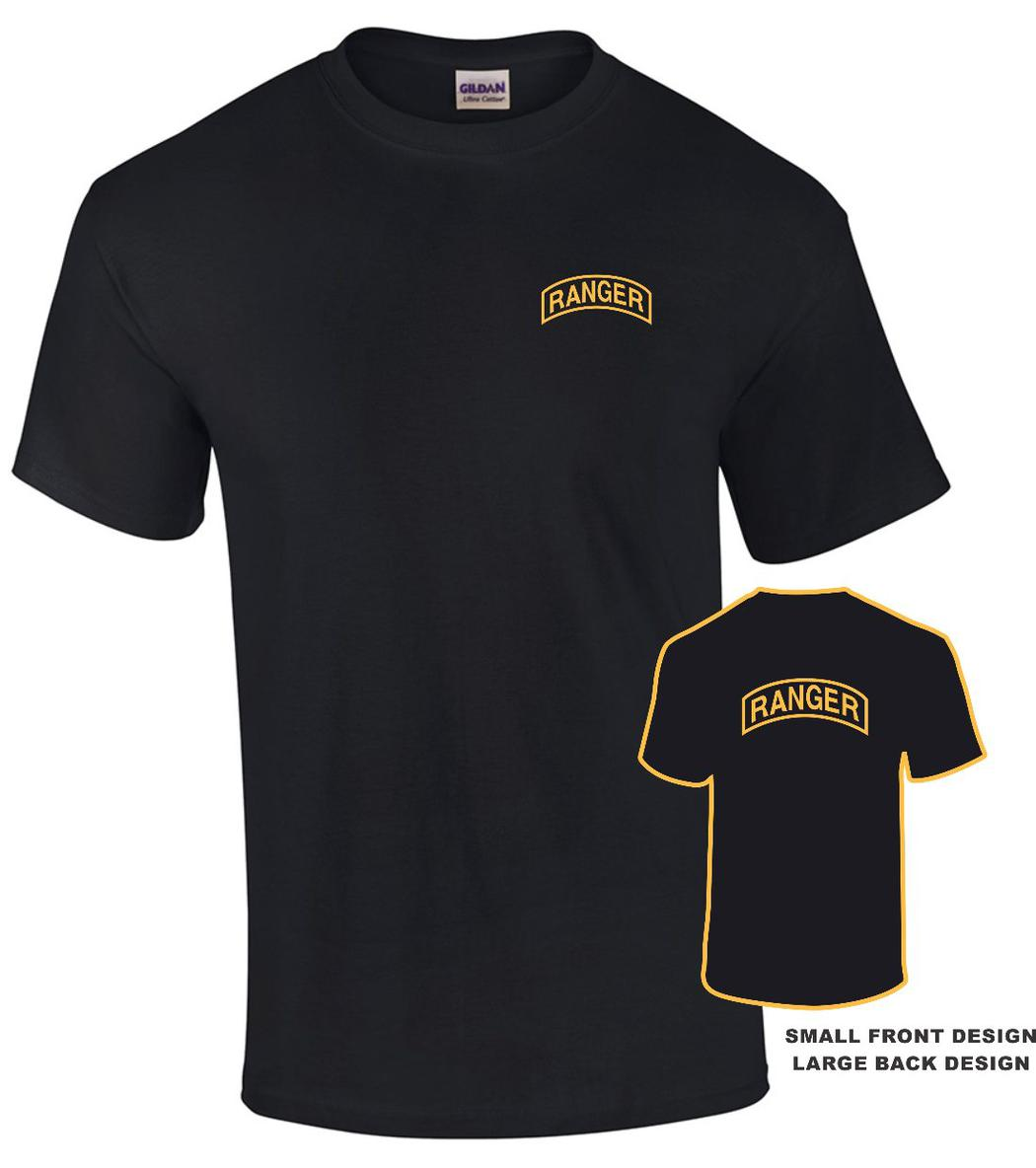 Custom imprint and embroidery u s army for Custom t shirts front and back