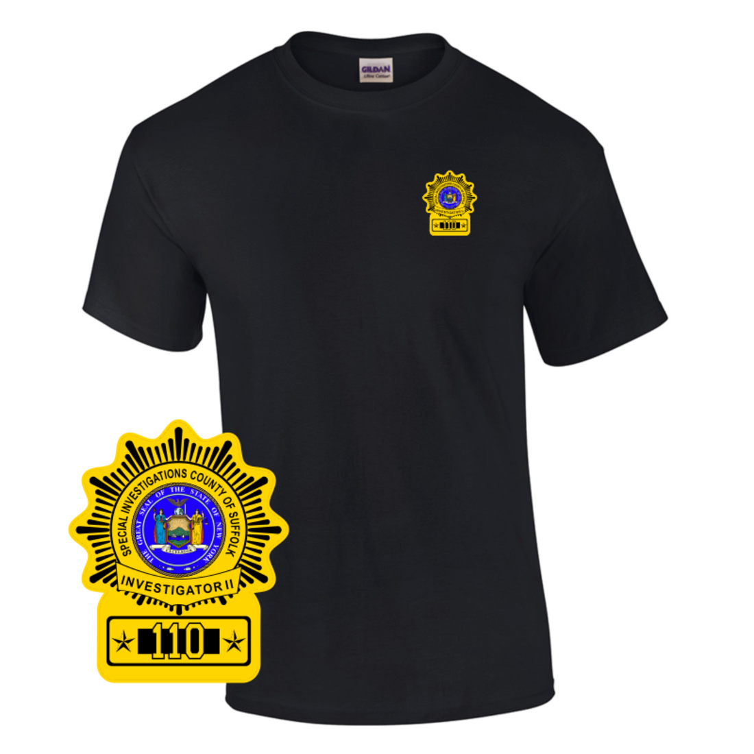 Law Enforcement Badge T Shirt Style 11 Custom Imprinted T