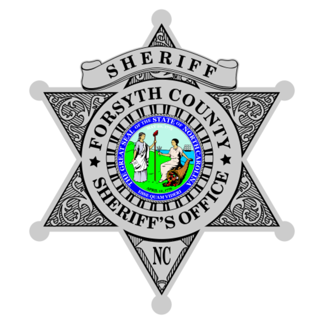 Custom Reflective Sheriff 6 Point Star Badge Decal ...