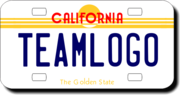 Personalized California License Plate for Bicycles, Kid's Bikes, Carts, Cars or Trucks Version 2