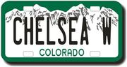 Personalized Colorado License Plate for Bicycles, Kid's Bikes, Carts, Cars or Trucks