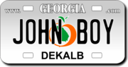 Personalized Georgia License Plate for Bicycles, Kid's Bikes, Carts, Cars or Trucks