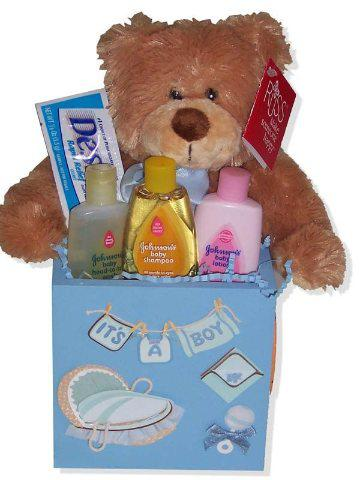 New Baby Boy Blue Gift Box Set