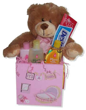 New Baby Girl Pink Gift Box Set