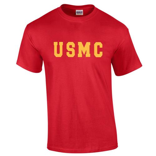 Usmc red t shirt free shipping custom for Custom t shirts international shipping