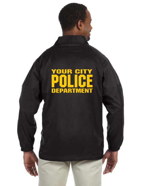 Custom Made Law Enforcement Raid Jacket Printed Front and Back -  Teamlogo.com | Custom Imprint and Embroidery