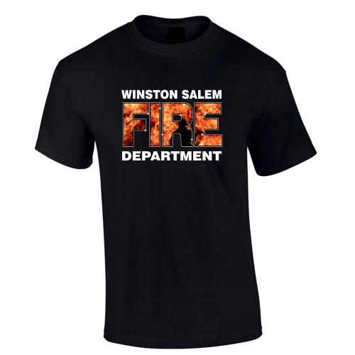 Custom fire department flames t shirt for Custom fire t shirts