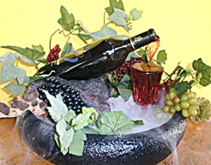 Wine bottle fountain wine bottle fountain with lights for Wine bottle fountain