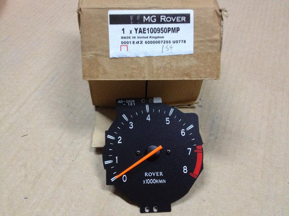 genuine mg rover rev counter tachometer 400 45 mg zs yae100950pmp