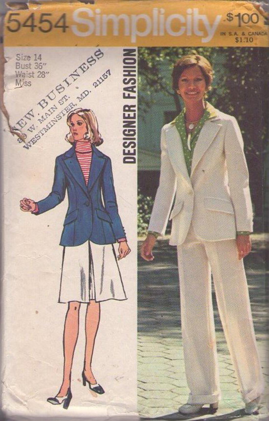 MOMSPatterns Vintage Sewing Patterns - Simplicity 5454 ...