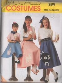 McCalls 8136 Retro 90s Sewing Pattern Ladies Sock Hop Grease 50s Rockabilly Dance Felt Circle Poodle Skirt Appliques Size 12