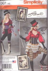 Butterick 5662 Misses/' Vintage Steampunk Costume Corset Sew Pattern 6-14 4 Looks