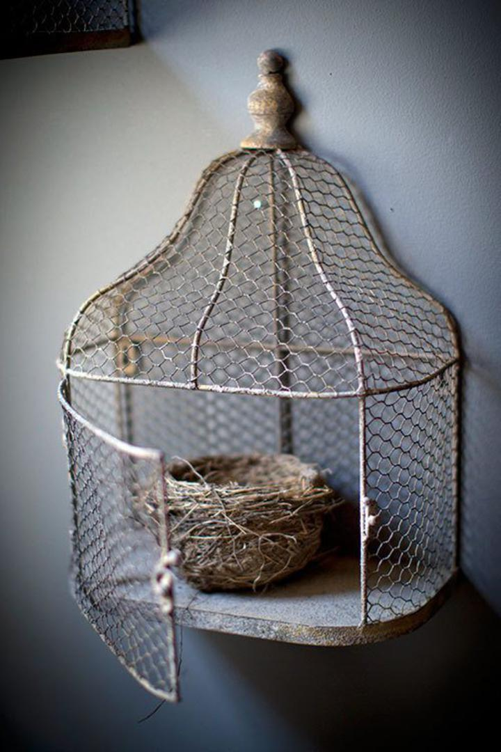 Sj Home Interiors And Wall Decor Chicken Wire Bird Cage