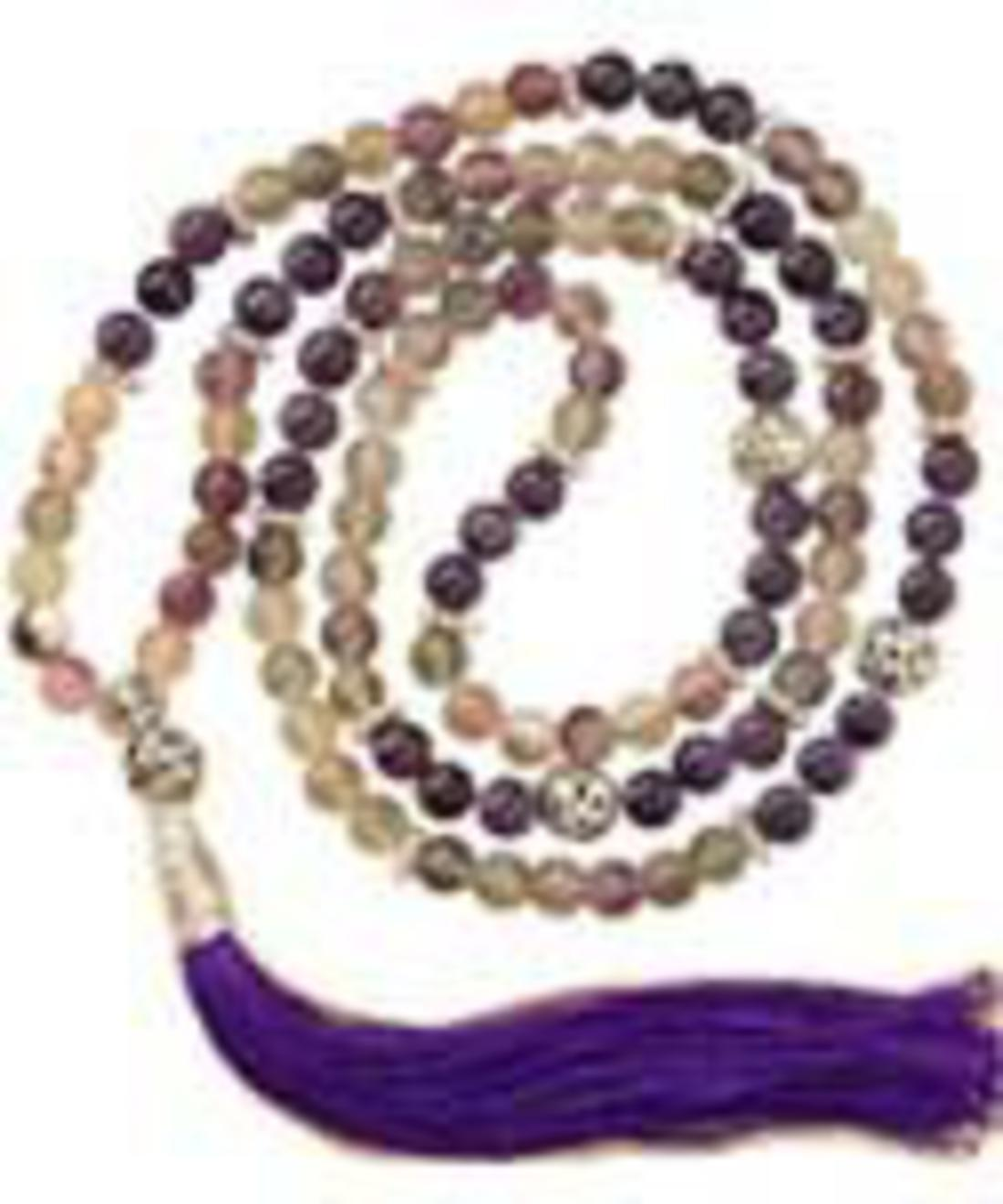 Church Of The Divine Spirit Mala Fluorite Amp Amethyst