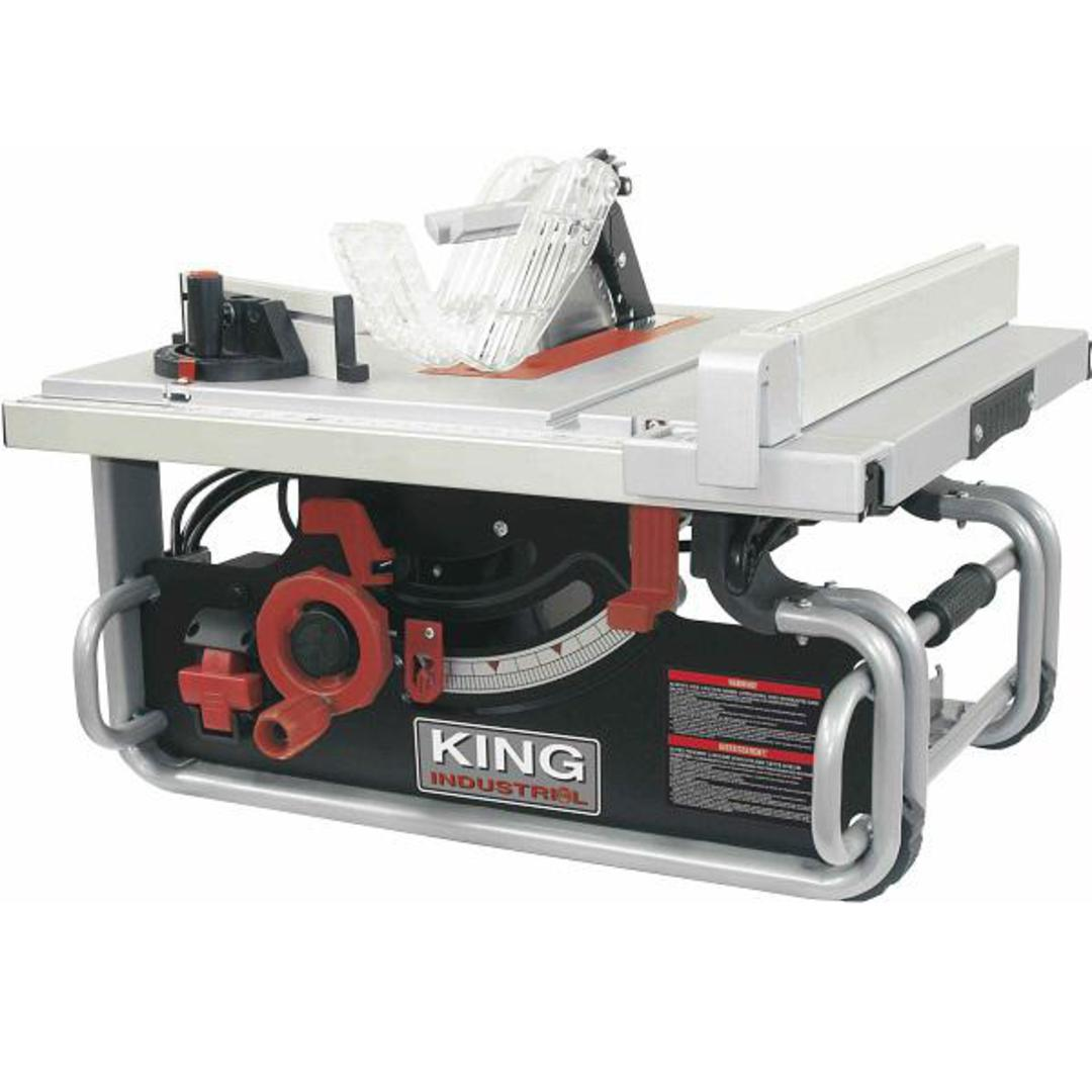 King 10 Quot Portable Worksite Table Saw