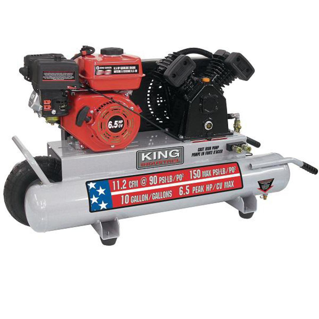 King Air Air Compressors : King gallon gas wheelbarrow air compressor