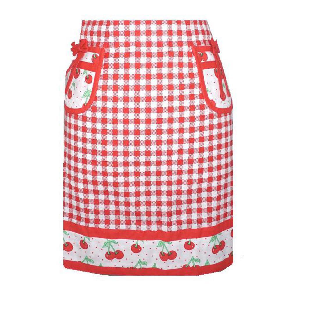 White half apron australia - Sierra Rose Designer Homewares Bettylou S Cherry Gingham Women S Waist Apron