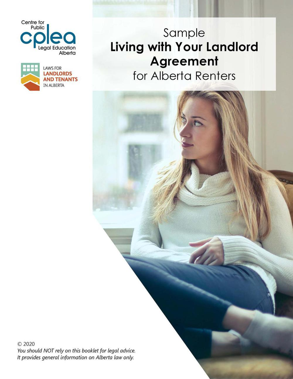 Living With Your Landlord Agreement SAMPLE FORM