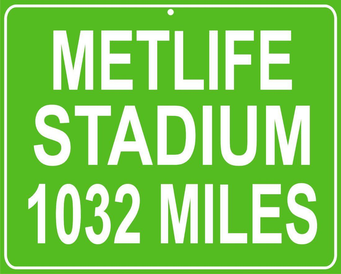 9a298bca193 Alabama and Auburn Framed Prints - New York Giants and Jets Metlife Stadium  custom mileage sign - distance to your house