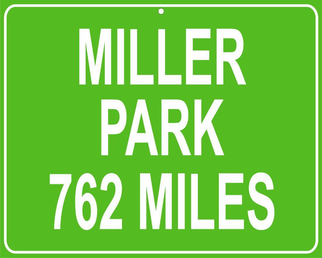 Alabama and auburn framed prints milwaukee brewers miller park milwaukeewi custom mileage sign distance to your house