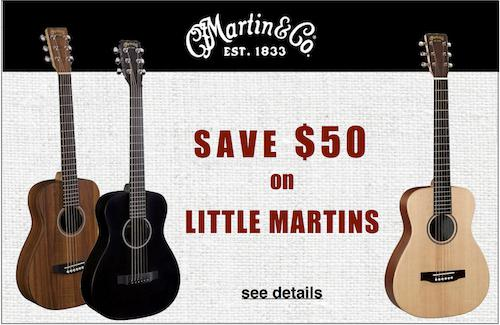 LITTLE MARTIN guitars are on SALE