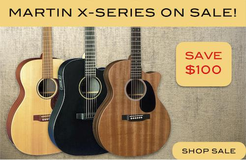 Martin X-Series Guitars on SALE
