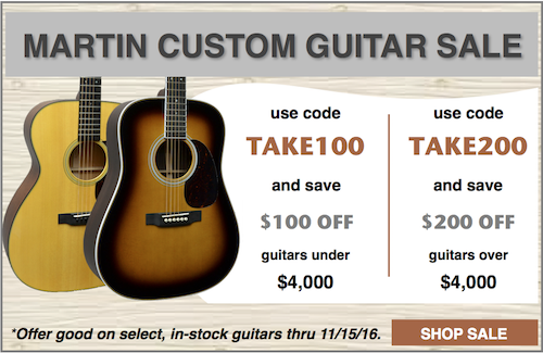 Martin Custom Shop Guitar Sale