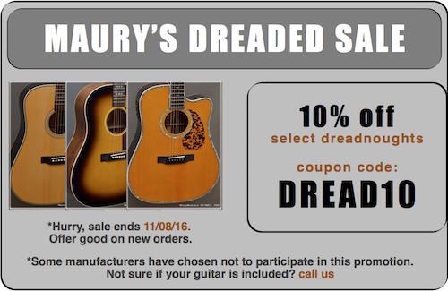 Maury's Dreaded Sale 2016