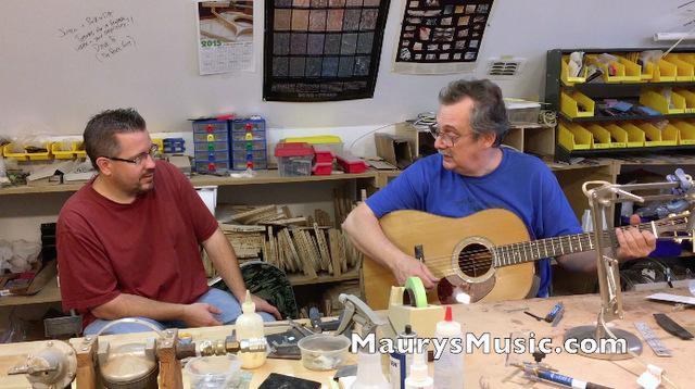 Maury visits Blues Creek Guitars