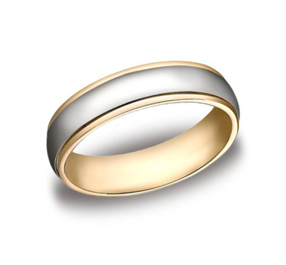 It is just a picture of Mens Two Tone Gold Wedding Band CF40