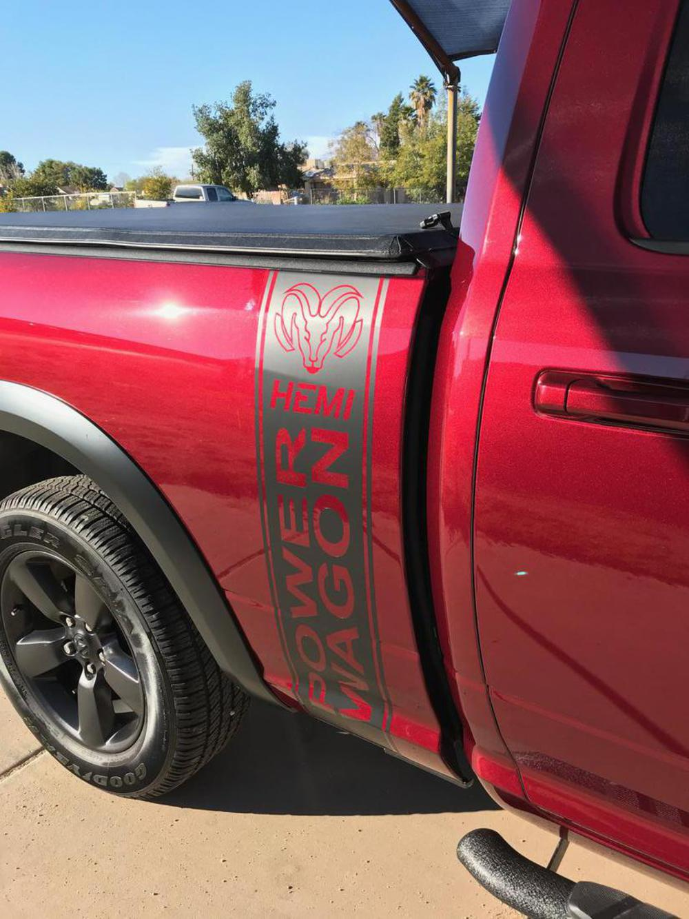 The Decal Shoppe Car Graphics Truck Graphics Graphic Decals Vinyl Graphics Muscle Car Stripes Decals Signs Dodge Ram Power Wagon Ram Hemi Truck Bed Stripes
