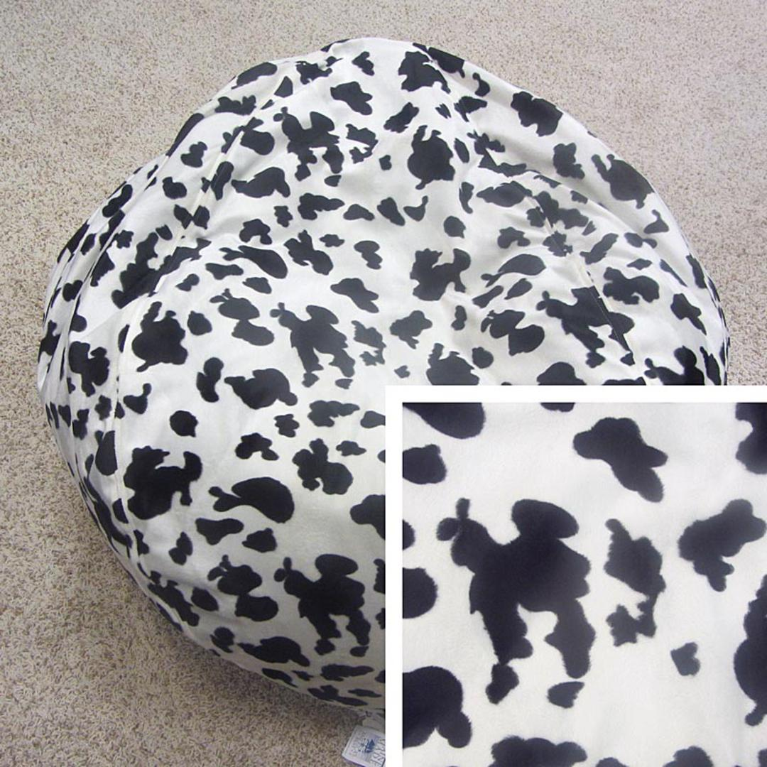 Pleasing Short Pile Faux Fur Animal Print Bean Bag Chair Cow Ocoug Best Dining Table And Chair Ideas Images Ocougorg