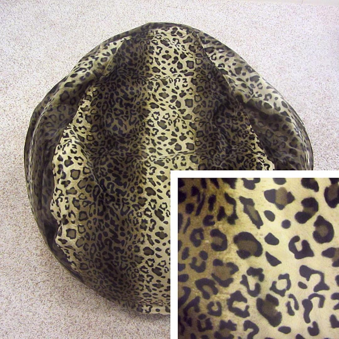 Superb Short Pile Faux Fur Animal Print Bean Bag Chair Leopard Ocoug Best Dining Table And Chair Ideas Images Ocougorg