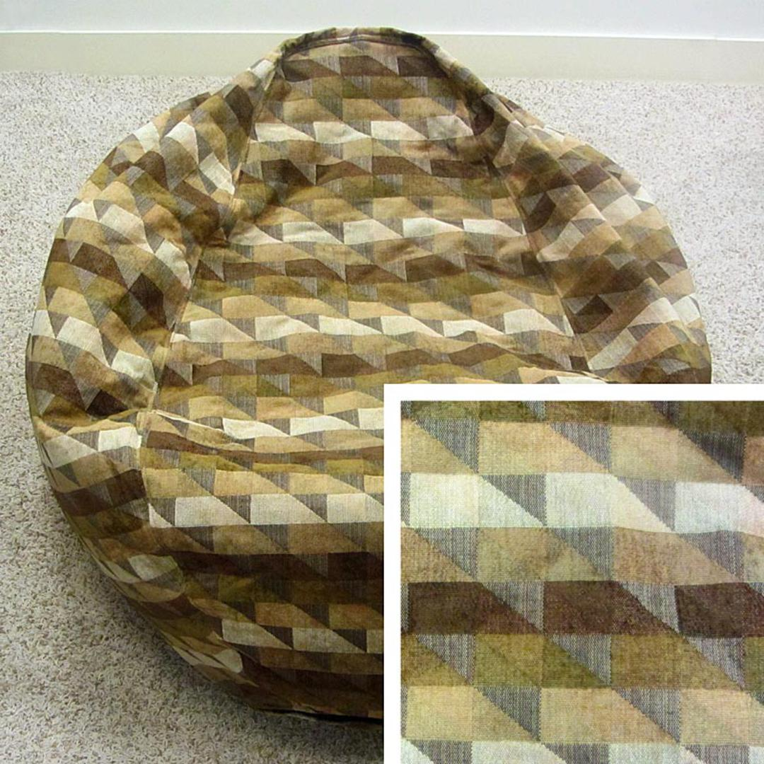 Groovy Extra Large Tapestry Bean Bag Chair Earthtone Triangles Ibusinesslaw Wood Chair Design Ideas Ibusinesslaworg