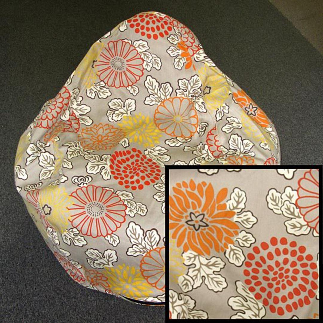 Large Flower Outlines Bean Bag Chair Soft Canvas