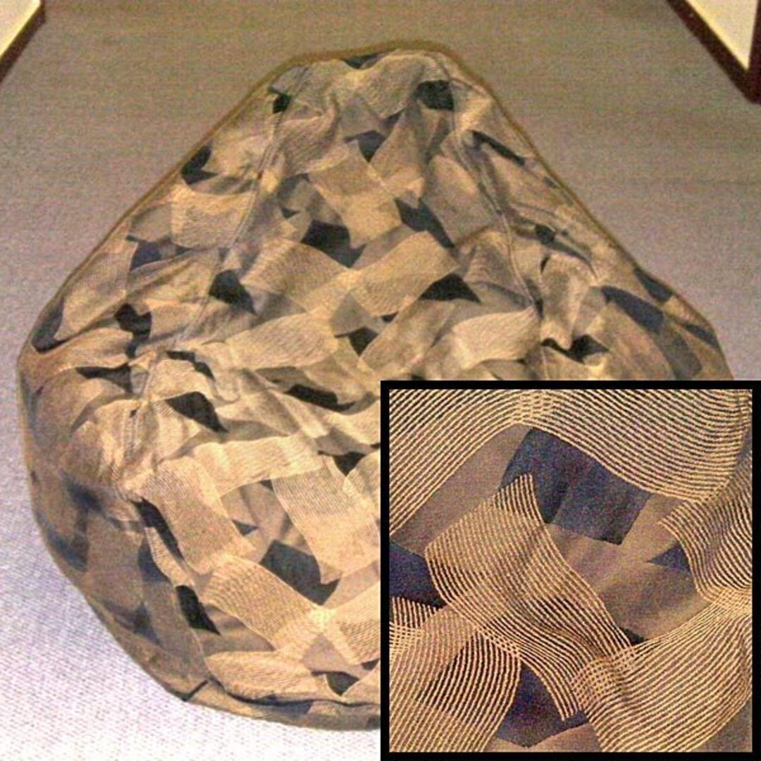 Awesome Extra Large Gold Lines Bean Bag Chair Tapestry Ibusinesslaw Wood Chair Design Ideas Ibusinesslaworg