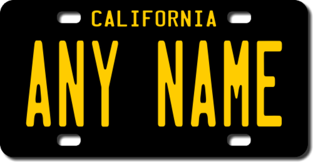Personalized California License Plate for Bicycles, Kid\'s Bikes ...