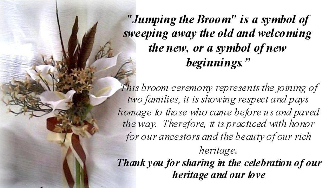 African Weddings Heritage Wedding Brooms Accessories Gifts Explanation Cards 50