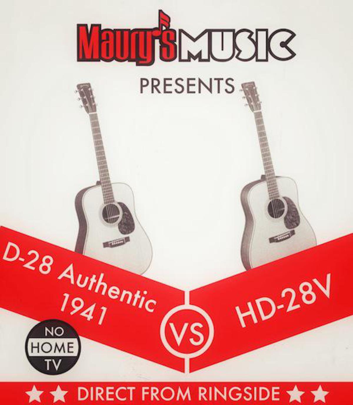 Martin HD-28V vs the D-28 Authentic 1941