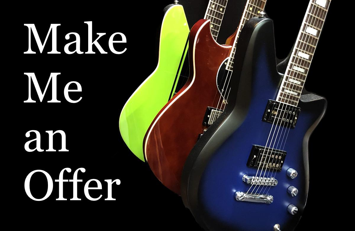 Make Me an Offer - Reverend Guitar BLOWOUT!