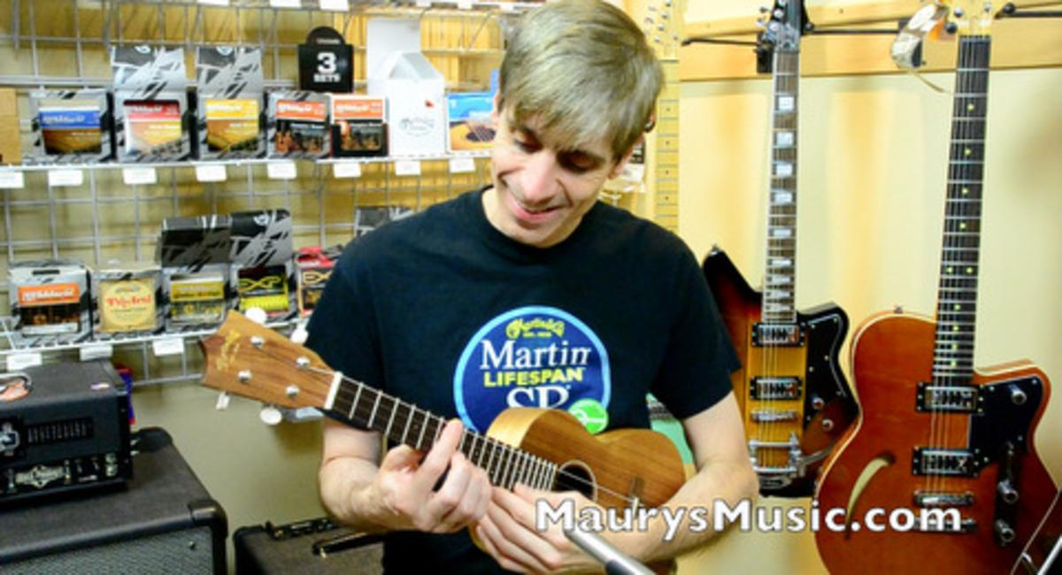 Nick Roberti dropped by with his Uke