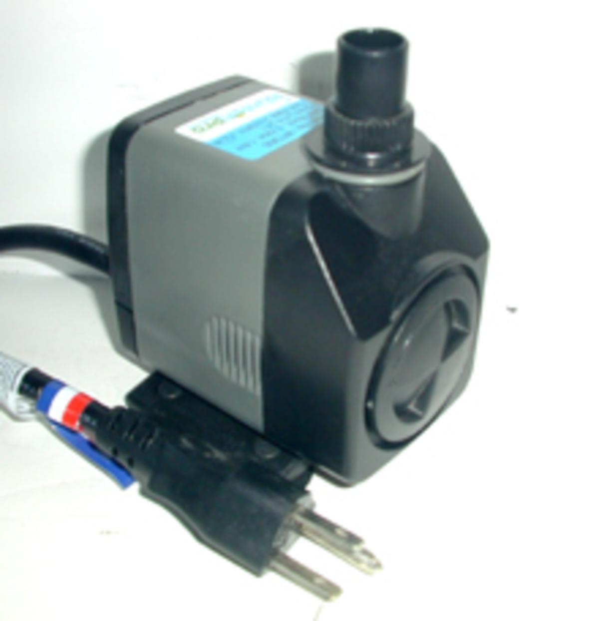 Fountain Pro's WT-300e Submersible pump
