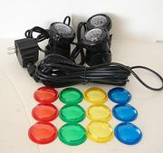LED mini spot lights with colored covers