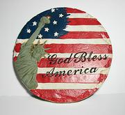 4th of July yard accent American Flag stepping stone