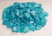 Teal sea glass for fountains or art work