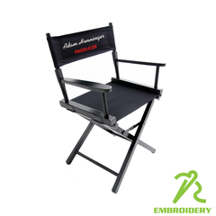 Chair Finish:	* Canvas Set Color:	* Embroidery Location(s):	 FRONT (add $0.00) BACK (add $0.00) F