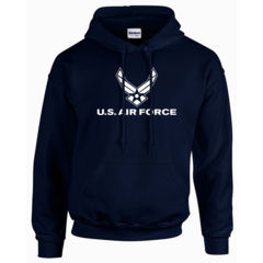 US Air Force Navy Blue Hooded Pullover Sweatshirt