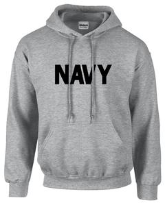 CLEARANCE US Navy Grey Hoodie SIZE XL
