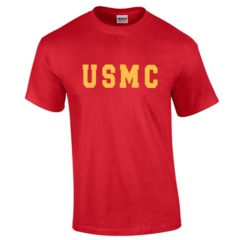 USMC Red T-Shirt - Free Shipping