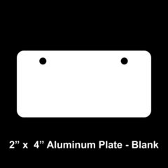 Blank 2 x 4 Aluminum License Plate